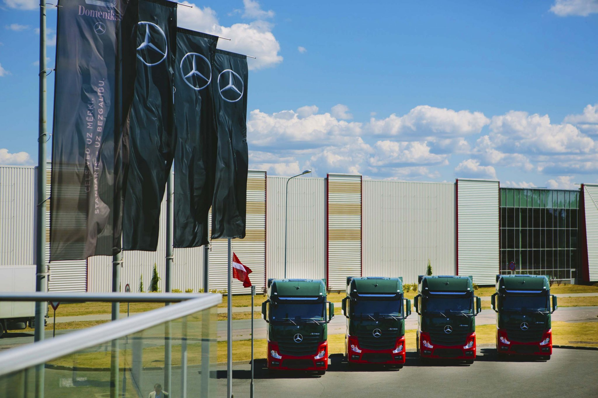 New Mercedez Benz Trucks Dinotrans