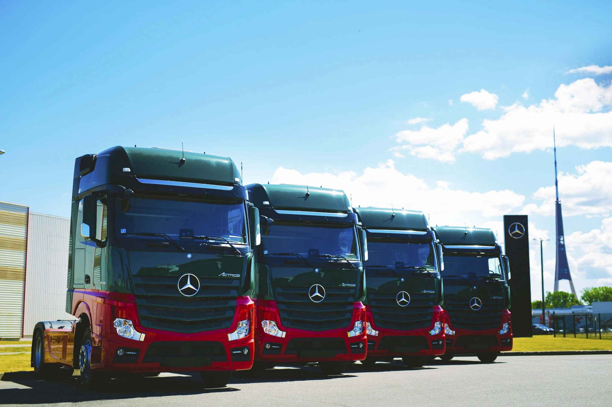 Incoming Mercedez Benz Trucks Dinotrans